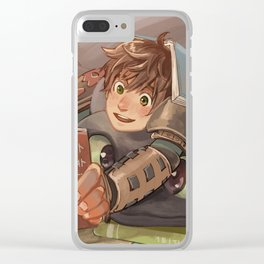 Hiccup and Toothless Clear iPhone Case
