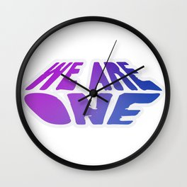 We Are One, violet Wall Clock