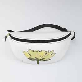 yellow lotus Fanny Pack
