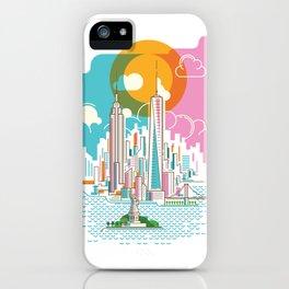 New York City Skyline Graphic Design iPhone Case