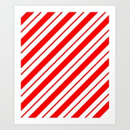 Peppermint Stripes Art Print
