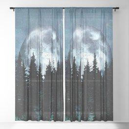 Full Moon II Sheer Curtain