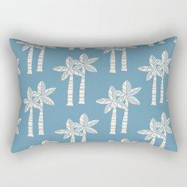 Palm Tree Pattern Blue 22 Rectangular Pillow