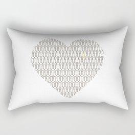 Penis at heart Rectangular Pillow