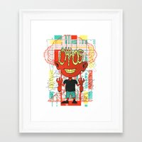 chaos Framed Art Prints featuring Chaos by Tshirt-Factory