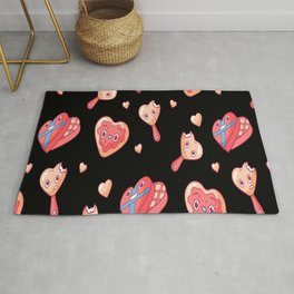 Valentines Day Romantics Gingerbread Rug