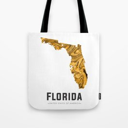 Florida - State Map Art - Abstract Map - Brown Tote Bag