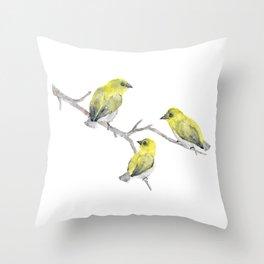 Finch Bird Throw Pillow