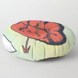 Vintage El Corazon Tarot Card Heart Love Artwork, Design For Prints, Posters, Bags, Tshirts, Men, Wo Floor Pillow
