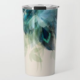 Beautiful Peacock Feathers Travel Mug