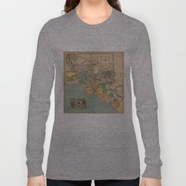 Vintage Map of Los Angeles County CA (1888) Long Sleeve T-shirt