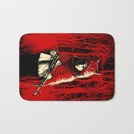 Here Comes the Red One Bath Mat