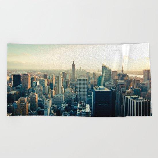 Good Evening New York City Beach Towel