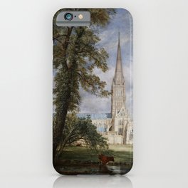 John Constable - Salisbury Cathedral from the Bishop's Garden iPhone Case