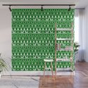 Green & White Nordic Ugly Sweater Christmas Pattern by podartist