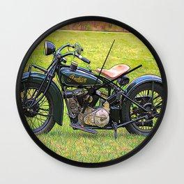 Vintage US motorcycle - Circa 1930 Wall Clock