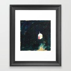 Church on Dark Framed Art Print