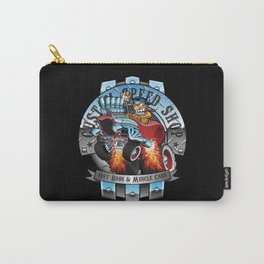 Custom Speed Shop Hot Rods and Muscle Cars Illustration Carry-All Pouch