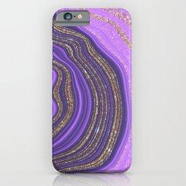 Purple & Gold Agate iPhone Case