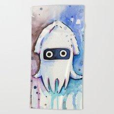 Blooper Watercolor Mario Art Beach Towel