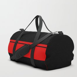 Red Racing Stripe Berlin Style Duffle Bag