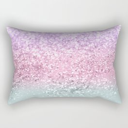 Unicorn Girls Glitter #7a #shiny #pastel #decor #art #society6 Rectangular Pillow