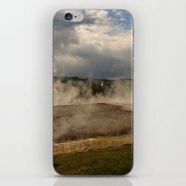 A Cloud Of Steam And Water Over A Geyser iPhone Skin