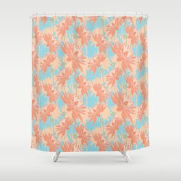 Day Dahlia Shower Curtain