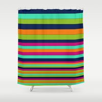 stripe Shower Curtains featuring Stripe by Aimee St Hill