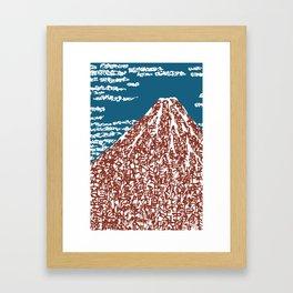 Kanji Calligraphy Art :Hokusai Mt.Fuji Framed Art Print