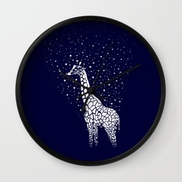 Hollow-Albino Giraffe Wall Clock