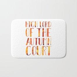 High Lord of the Autumn Court Bath Mat
