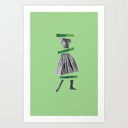 Girly Green Art Print