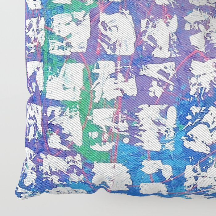 Abstract - Time is the Space Between You and Me Floor Pillow