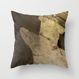 Structural element of ancient greece architecture. (natural version) Throw Pillow