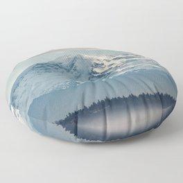 Seattle Mount Rainier Floor Pillow
