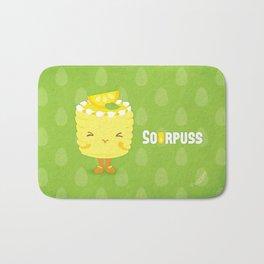 Sourpuss Lemon cake Bath Mat