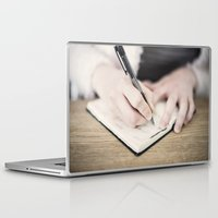 write Laptop & iPad Skins featuring WRITE by Marte Stromme