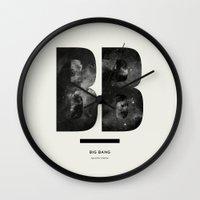 big bang Wall Clocks featuring BIG BANG by Amanda Mocci