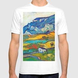 Les Alpilles, Mountain Landscape near South Reme Vincent van Gogh 1889 T-shirt