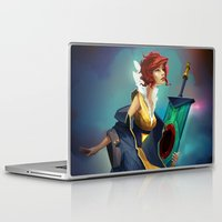 transistor Laptop & iPad Skins featuring Red and Luna by Leksotiger