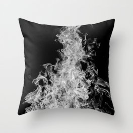 B&W Blaze Throw Pillow