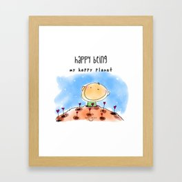 My Happy Planet Framed Art Print