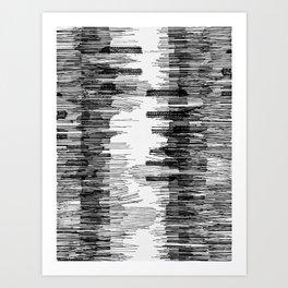 Polyline Distortion Art Print