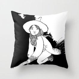 Inktober2016: Vagabond witch Throw Pillow