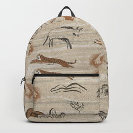 Ancient cave paintings Backpack