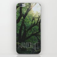 wanderlust iPhone & iPod Skins featuring Wanderlust by Leah Flores