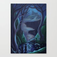 carmilla Canvas Prints featuring Scene from Carmilla 2 by Nick Helton