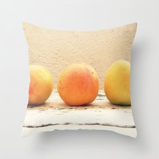 3 apricots Throw Pillow
