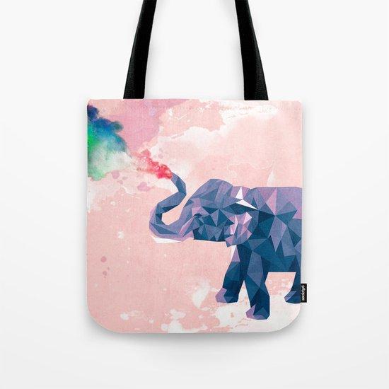Rainbow Elephant Tote Bag